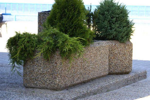 Donice sześciokątne betonowe  PMO Mała architektura