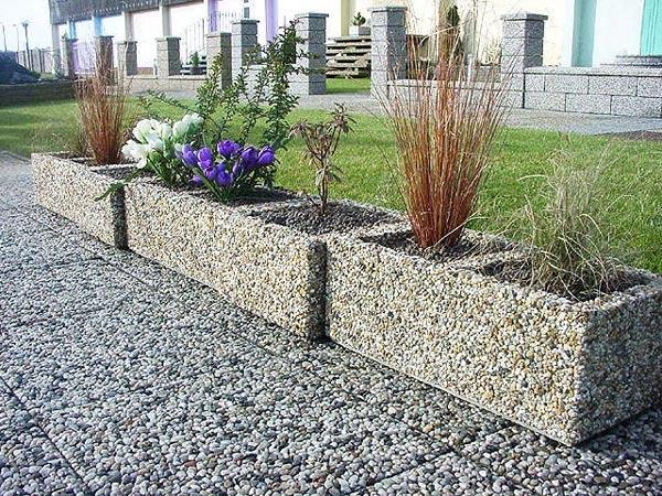 Meble Ogrodowe Okragłe : Donice betonowe prostokątne  PMO Mała architektura