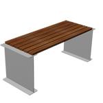 Stół Fillet metalowo drewniany