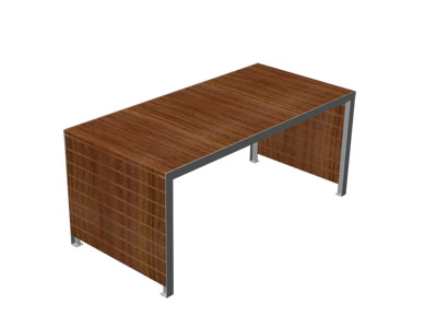 Stół Low metalowo drewniany